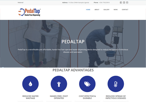 PedalTap is a retrofittable and affordable, hands free foot operated water dispensing device designed to reduce the spread of infectious disease and save water. http://pedaltapug.com/